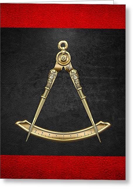 Masters Degree Greeting Cards - 5th Degree Mason - Perfect Master Masonic Jewel  Greeting Card by Serge Averbukh