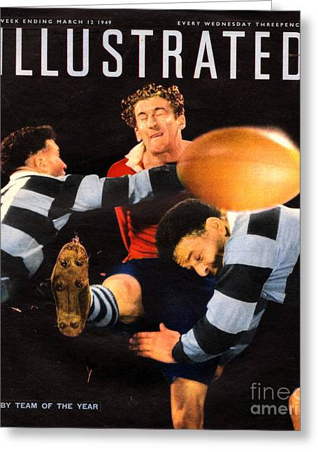 Sports Illustrated Greeting Cards - 1940s Uk Illustrated Magazine Cover Greeting Card by The Advertising Archives