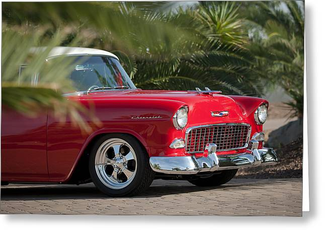 1955 Photographs Greeting Cards - 1955 Chevrolet 210 Greeting Card by Jill Reger
