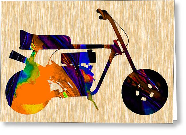 Mini Bike Greeting Cards - 1960s Mini Bike Greeting Card by Marvin Blaine