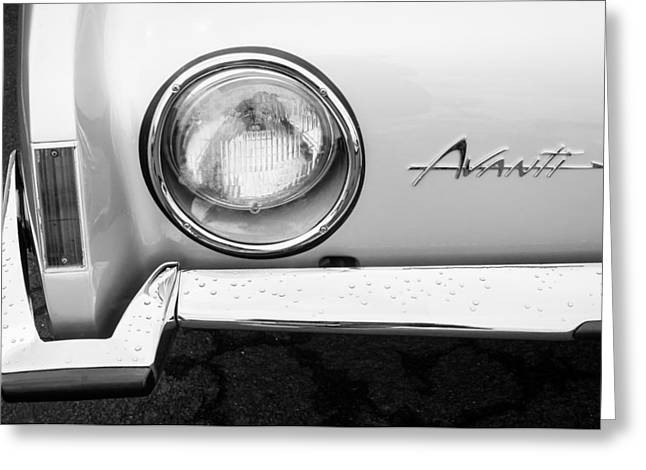 1963 Greeting Cards - 1963 Studebaker Avanti Emblem Greeting Card by Jill Reger