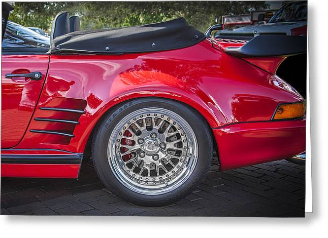 Whale Tail Greeting Cards - 1984 Porsche 911 Carrera Cabriolet Slant Nose Greeting Card by Rich Franco