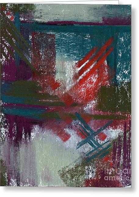 Contemporary Abstract Pastels Greeting Cards - Foggy Morning Greeting Card by Tracy L Teeter