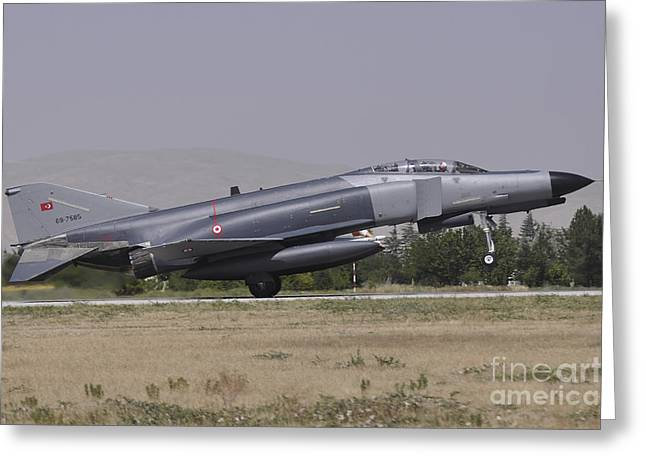 The Terminator Greeting Cards - A Turkish Air Force F-4e 2020 Greeting Card by Giorgio Ciarini