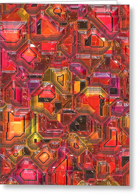 003 Abstract  Greeting Card by Mark Brooks