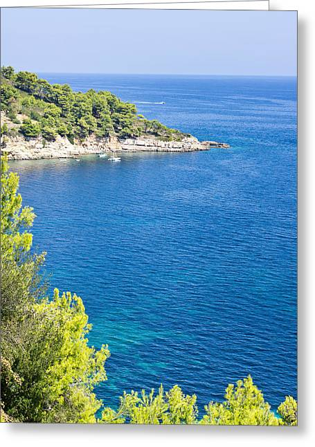 Slip Greeting Cards - Alonissos Greeting Card by Tom Gowanlock