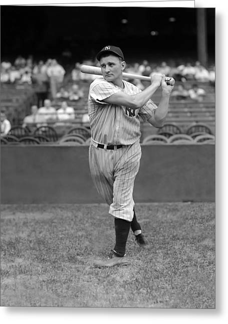 Baseball Bat Greeting Cards - Alvin J. Jake Powell Greeting Card by Retro Images Archive