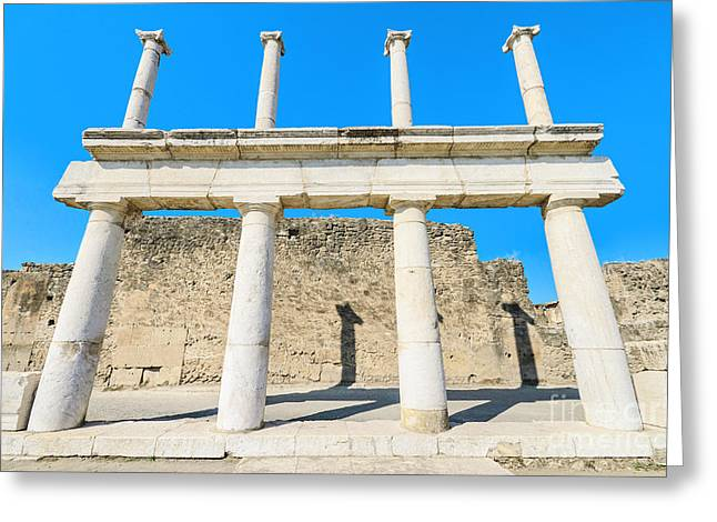 Historic Site Greeting Cards - Ancient ruins of Pompeii Italy Greeting Card by David Herraez