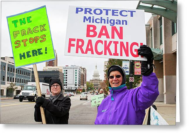 Anti-fracking Protest Greeting Card by Jim West