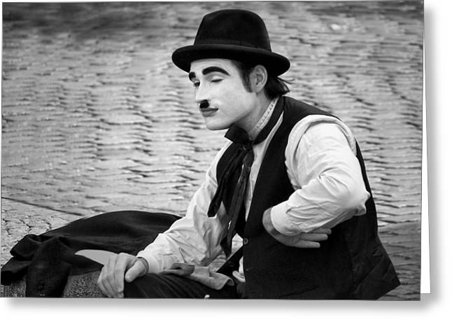 Long Sleeved Dress Greeting Cards - #6 Anything Else - French Mime Greeting Card by Nikolyn McDonald