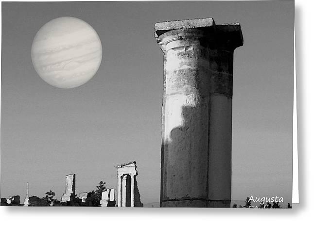 Pentagram Art Greeting Cards - Apollo Sanctuary - Cyprus Greeting Card by Augusta Stylianou