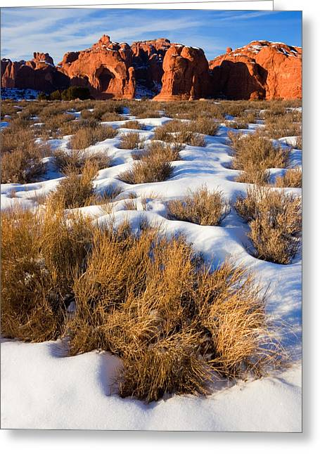 Monolith Greeting Cards - Arches National Park Greeting Card by Utah Images