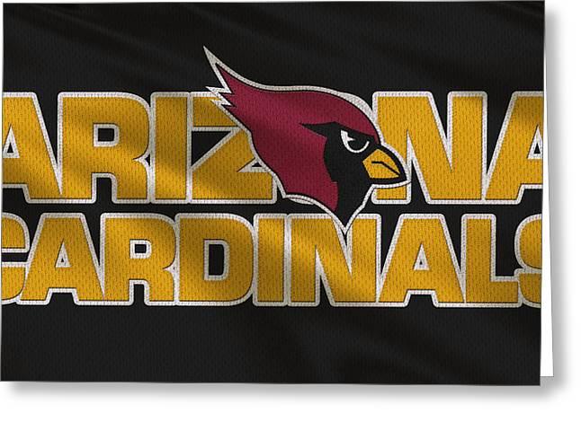 Sports Greeting Cards - Arizona Cardinals Uniform Greeting Card by Joe Hamilton