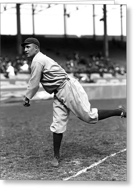 Baseball Art Photographs Greeting Cards - Arthur N. Art Nehf Greeting Card by Retro Images Archive