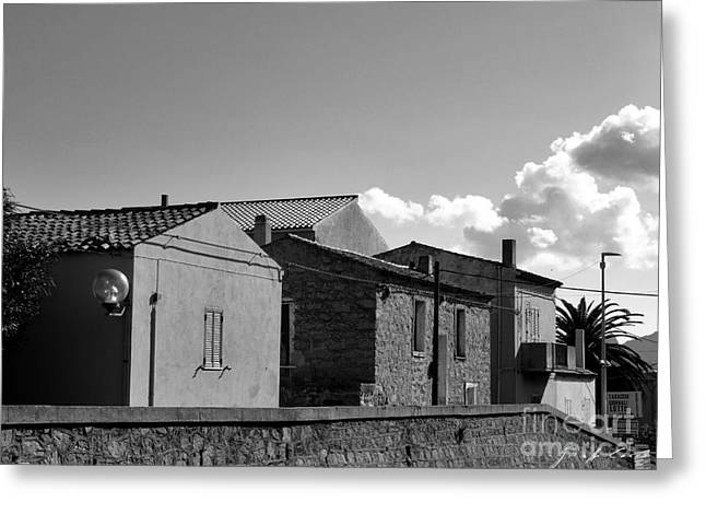 Architectur Greeting Cards - Arzachena houses Greeting Card by Giuseppe Cocco