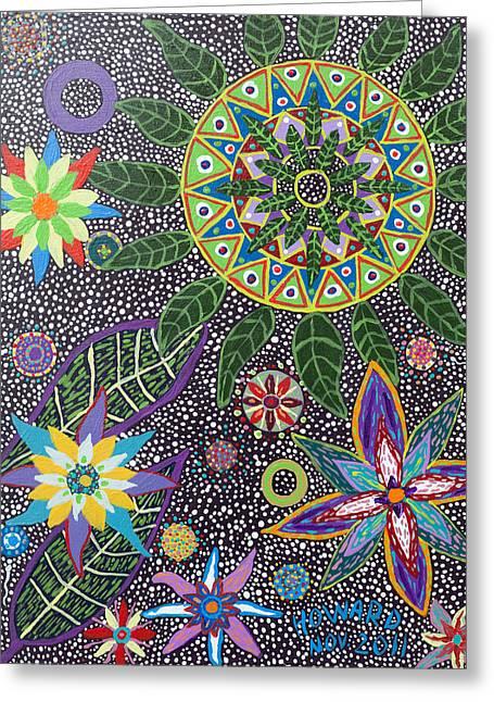 Ayahuasca Visions Greeting Cards - Ayahuasca Vision Greeting Card by Howard Charing
