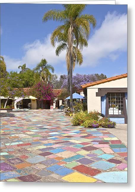 Art Exhibit Greeting Cards - Balboa Park Spanish Village San Diego California. Greeting Card by Gino Rigucci
