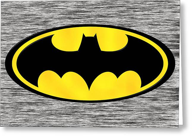 Superhero Greeting Cards - Batman Greeting Card by Marvin Blaine