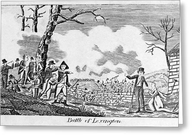 Carousel House Greeting Cards - Battle Of Lexington, 1775 Greeting Card by Granger