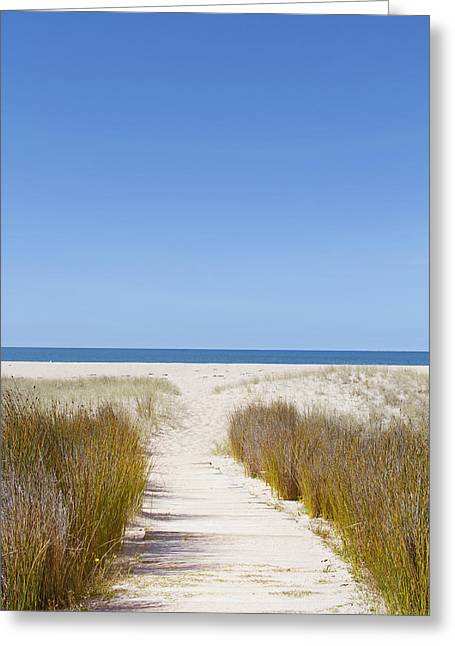 Beach Photograph Greeting Cards - Beach trail Greeting Card by Les Cunliffe