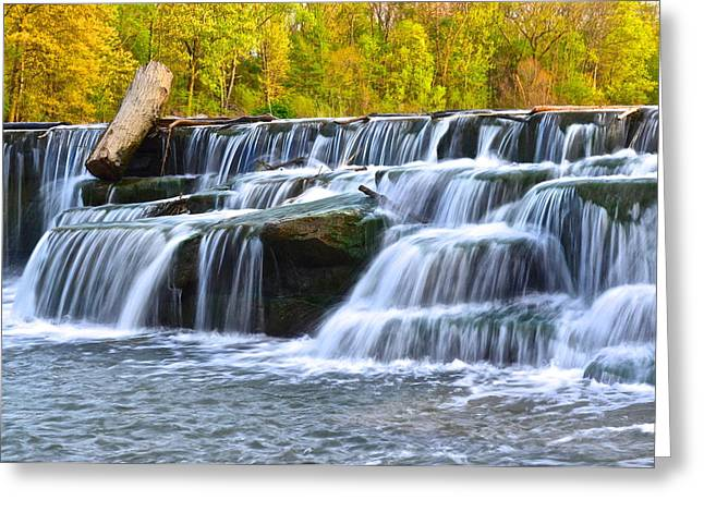 Eternal Flow Photographs Greeting Cards - Berea Falls Greeting Card by Frozen in Time Fine Art Photography