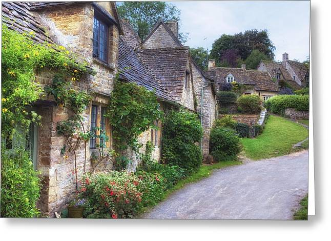 South West Greeting Cards - Bibury Greeting Card by Joana Kruse