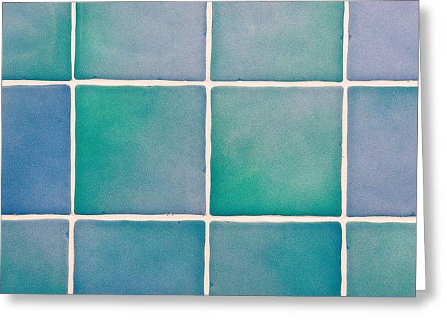 Split Toning Greeting Cards - Blue tiles Greeting Card by Tom Gowanlock