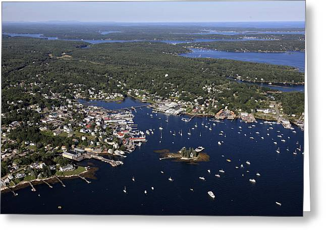 Dave Greeting Cards - Boothbay Harbor, Maine Greeting Card by Dave Cleaveland