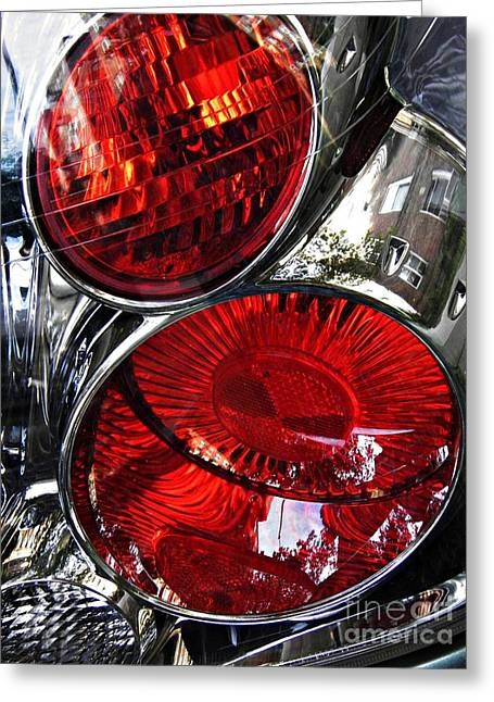 Sarah Loft Greeting Cards - Brake Light 13 Greeting Card by Sarah Loft