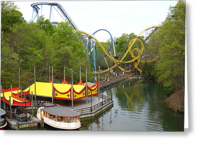 Monster Greeting Cards - Busch Gardens - 12122 Greeting Card by DC Photographer