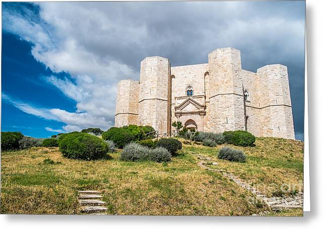 Octagon Greeting Cards - Castel del Monte Greeting Card by Sabino Parente