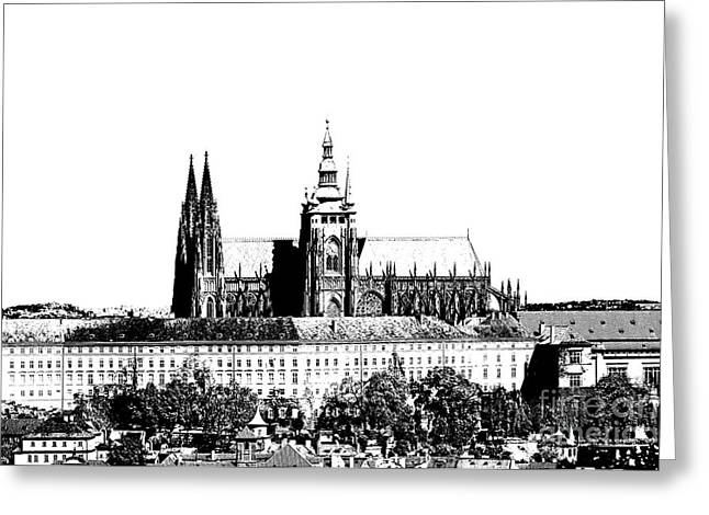 Prague Castle Digital Greeting Cards - Cathedral of St Vitus Greeting Card by Michal Boubin