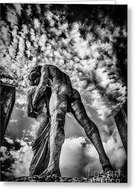 Sky Lovers Art Greeting Cards - Cemetery of Mantova Greeting Card by Traven Milovich
