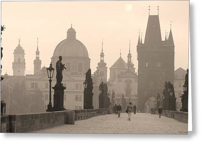 Charles Bridge Prague Czech Republic Greeting Card by Panoramic Images
