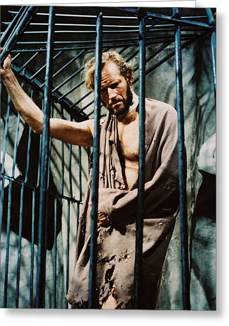 Science Fiction Photographs Greeting Cards - Charlton Heston in Planet of the Apes  Greeting Card by Silver Screen