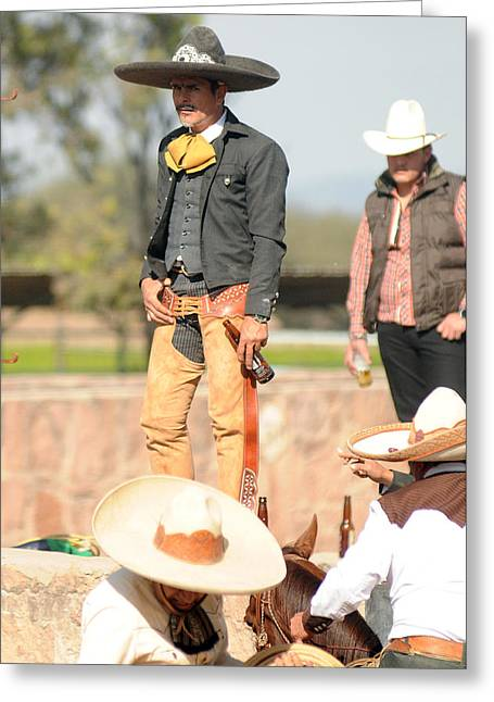 Charro Hat Greeting Cards - Charro Greeting Card by Ok More Photos