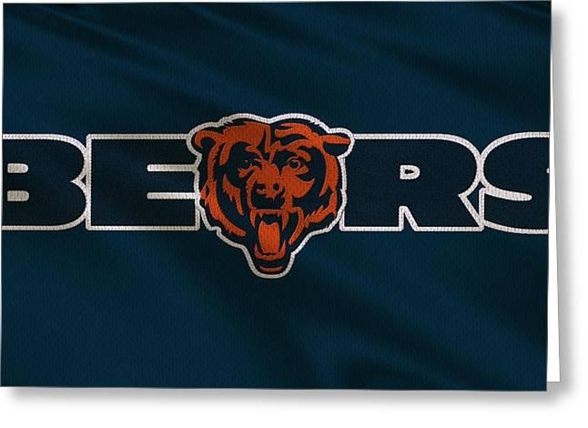 Defense Greeting Cards - Chicago Bears Uniform Greeting Card by Joe Hamilton