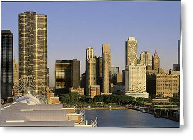 Mid Summer Morning Greeting Cards - Chicago Il Greeting Card by Panoramic Images