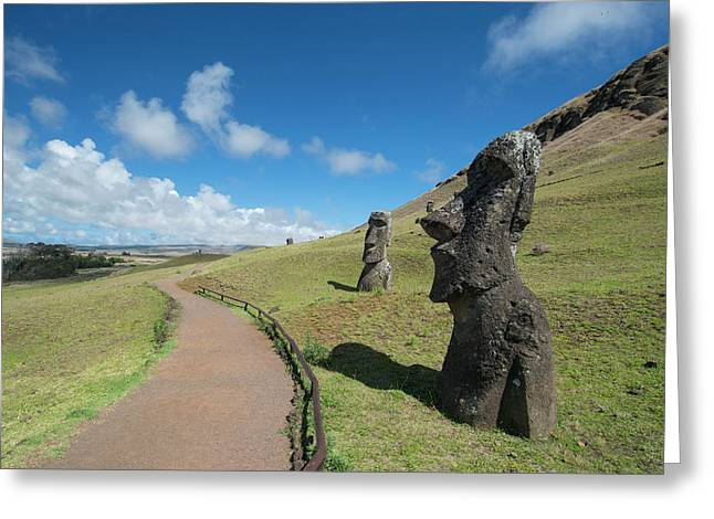 Chile, Easter Island Aka Rapa Nui Greeting Card by Cindy Miller Hopkins