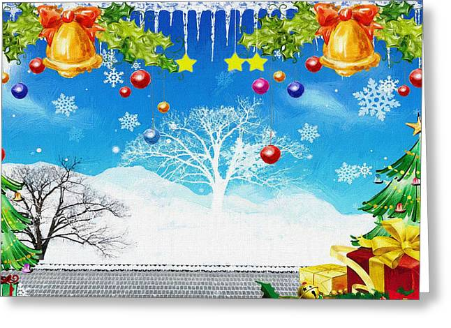 New Year Greeting Cards - Christmas New Year Greeting Card by Victor Gladkiy
