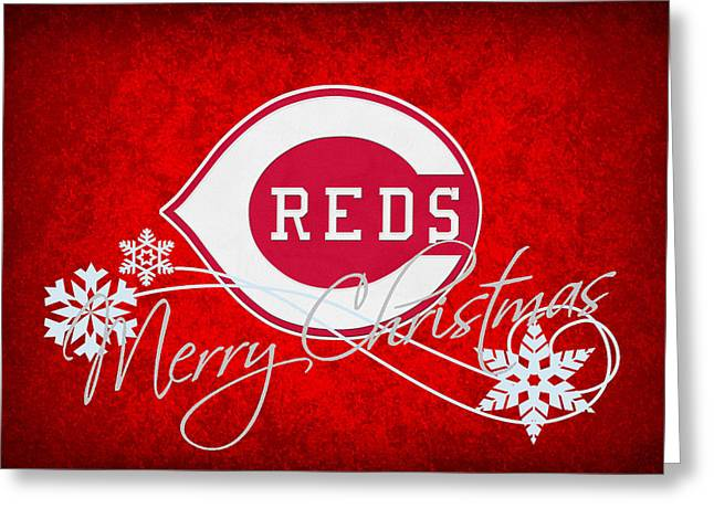 Baseball Field Greeting Cards - Cincinnati Reds Greeting Card by Joe Hamilton