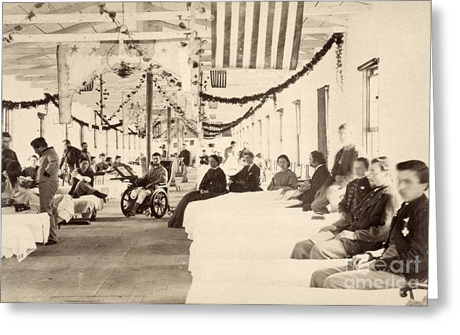 Union Square Greeting Cards - Civil War: Hospital Greeting Card by Granger