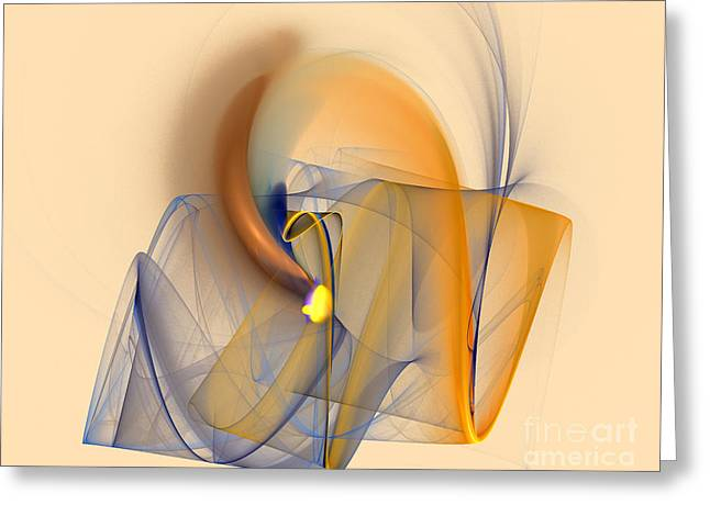 Geometric Effect Greeting Cards - Colorful Abstract Greeting Card by Odon Czintos