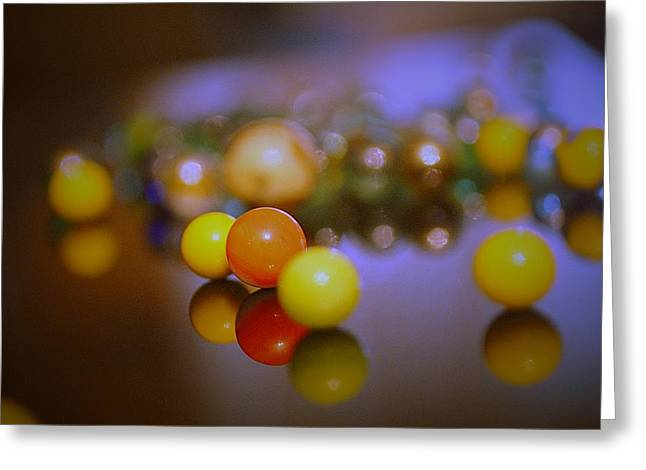 Marble Eye Greeting Cards - Colorful Marbels31 Greeting Card by Michael James Greene