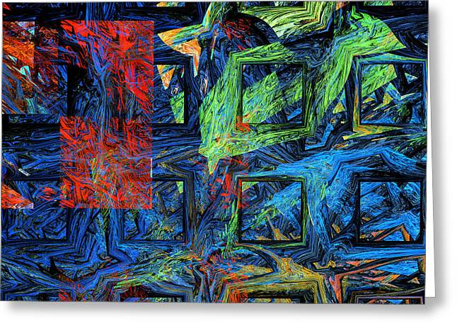Translucent Greeting Cards - Colorful Psychedelic Abstract Fractal Art Greeting Card by Keith Webber Jr