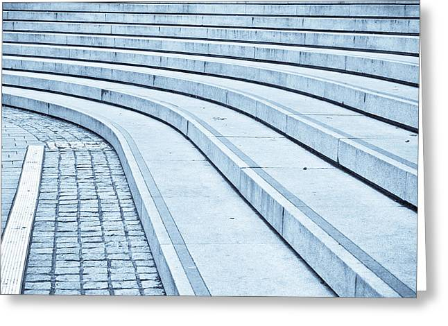 Staircase Greeting Cards - Concrete steps Greeting Card by Tom Gowanlock