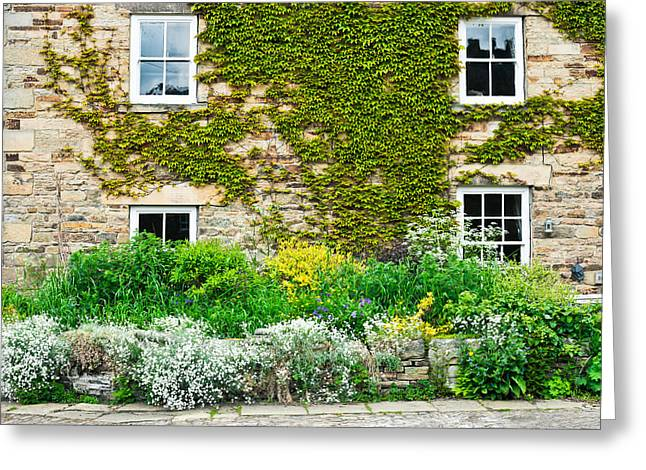 Houses Bed And Breakfast Greeting Cards - Cottage garden Greeting Card by Tom Gowanlock