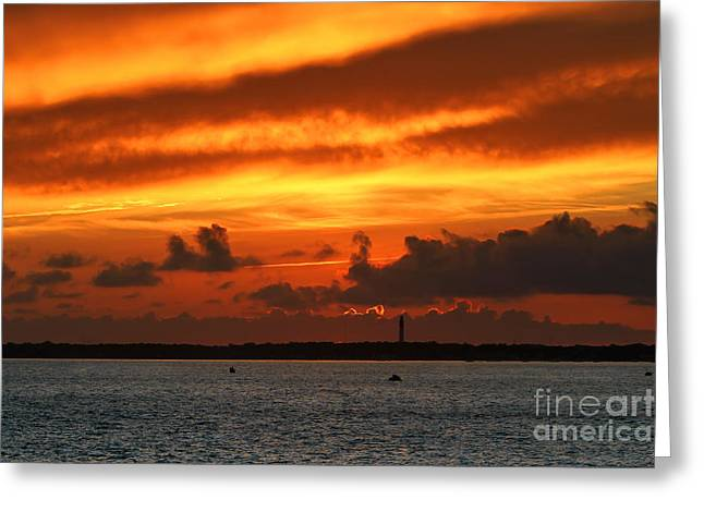 Paysage D Greeting Cards - Coucher de soleil Greeting Card by Philippe Carlhant