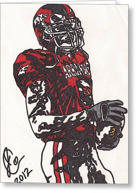 Mcfaddens Greeting Cards - Darren McFadden Greeting Card by Jeremiah Colley