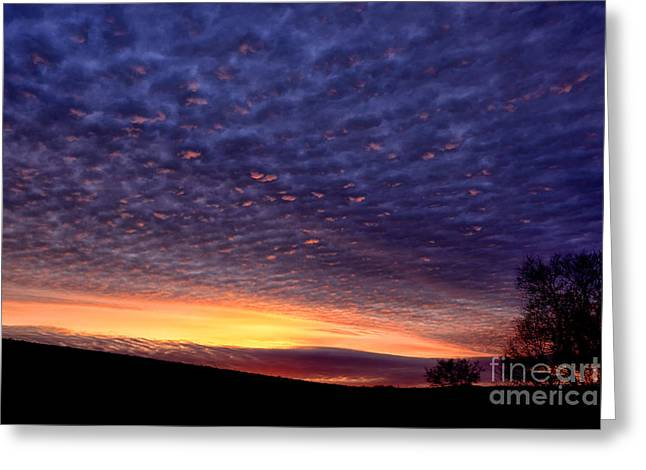 Colorful Cloud Formations Greeting Cards - Dawn of the Day Greeting Card by Thomas R Fletcher
